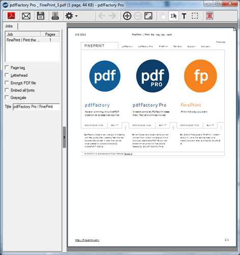 FinePrint PDF Factory Pro 7.10 Crack