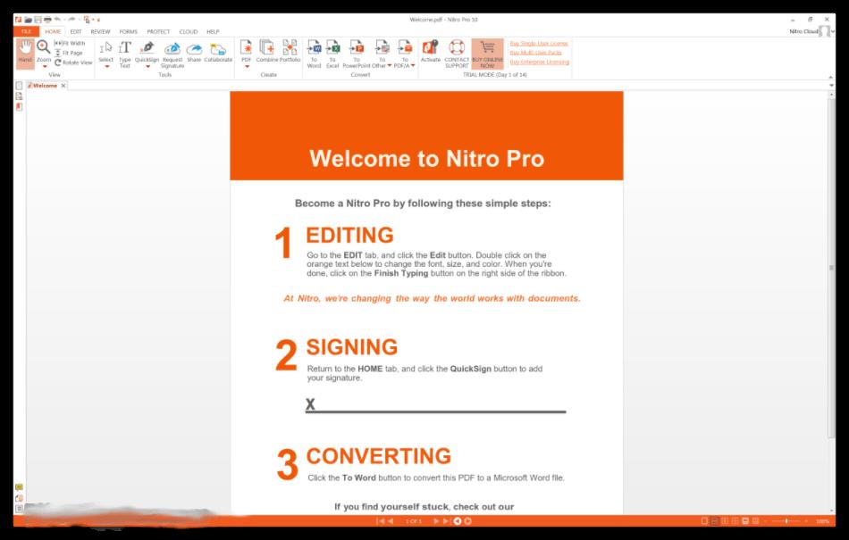 Nitro PDF PRO Enterprise 13 activation key