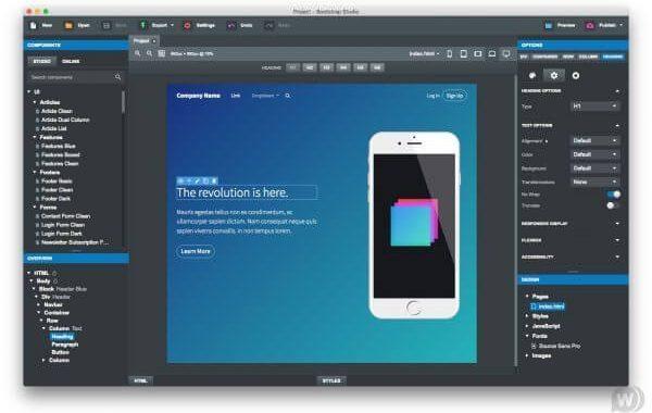 Bootstrap Studio 4.5.8 free
