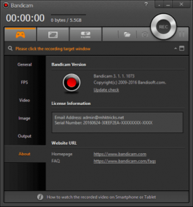 Bandicam 4.5.5 Build 1632 crack