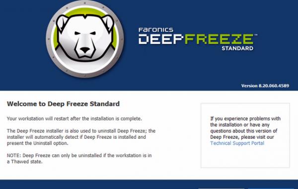 Deep Freeze Standard 8.60 keygen