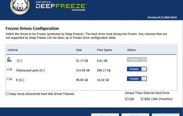 Deep Freeze Standard 8.60 key